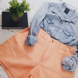 Vintage Peach Orange High Waisted Shorts